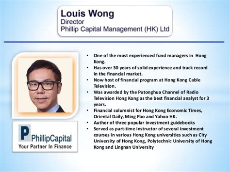 annual investment conference speaker profile