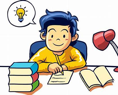 Transparent Writing Clipart Student Learning Students Clip
