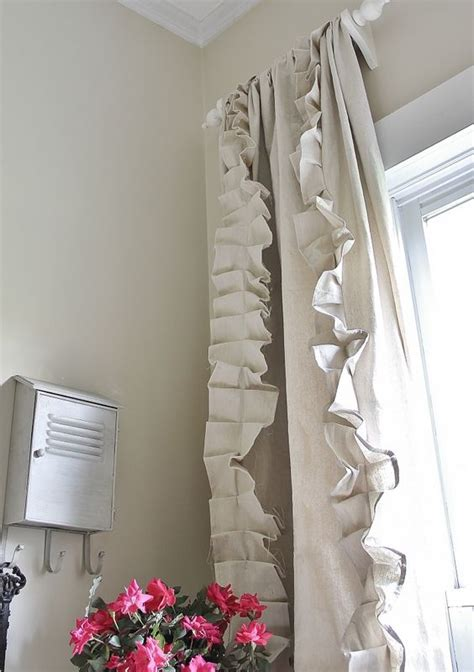 drop cloth curtains the ruffled from thistlewood
