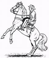 Cowboy Coloring Pages Cowboys Printable Boys Vader Darth Horse Corvette Popular sketch template