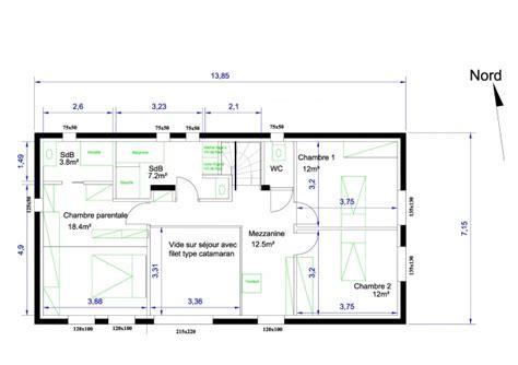 plan d une maison 155 m 178 sur r 1 pour avis 106 messages
