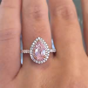 pink wedding rings 1 01 carat pink pear shaped gold engagement ring for sale at 1stdibs