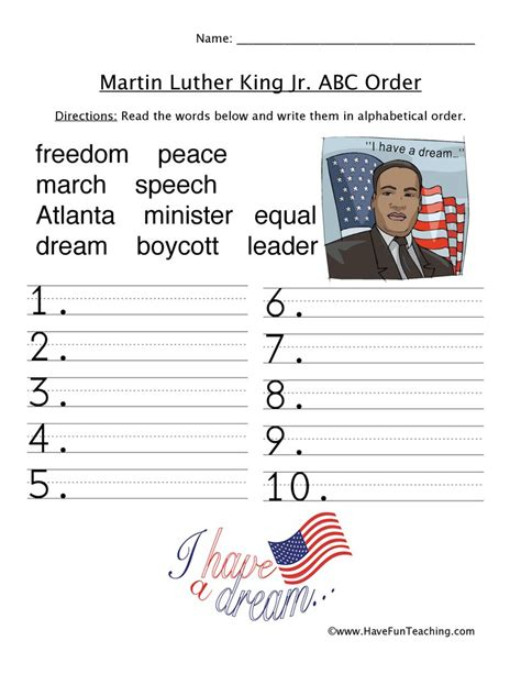 Martin Luther King Lesson Worksheets  Dr Martin Luther King Jr Day Speech Language Twin Free