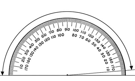 Protractor, 170 Degrees  Clipart Etc