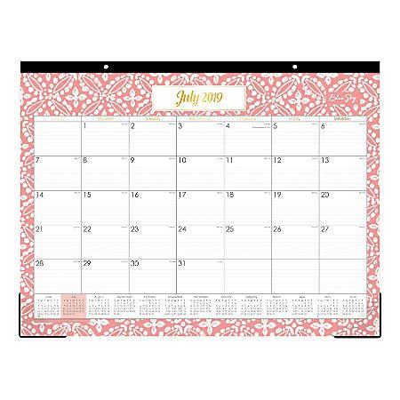 blue sky monthly desk pad altheda july june