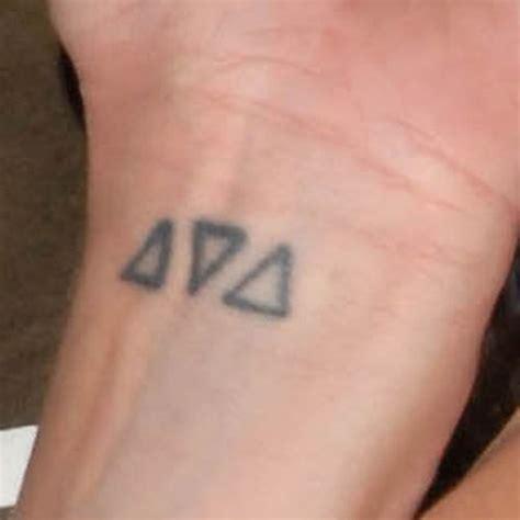 pauley perrette triangle wrist tattoo steal  style