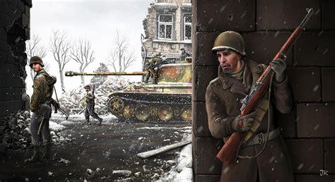 war snow winter tank soltau  germans russian soviet