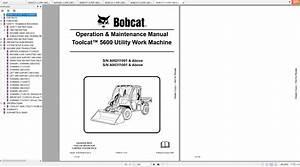 Bobcat Toolcat Utility Work Machine 5600 Operation