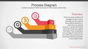 Four Steps Corporate Powerpoint Diagram