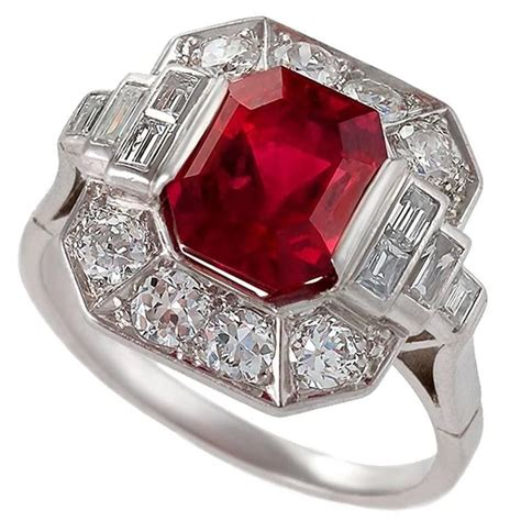 spine l for sale art deco red spinel and platinum ring for sale at