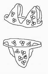 Coloring Bikini Kp Bikinis Designlooter 43kb 800px Kleuterdigitaal sketch template
