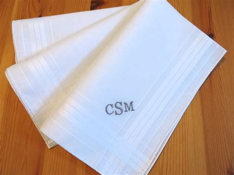 set of 3 assorted color fine cotton mens monogrammed set of 3 fine cotton mens monogrammed handkerchiefs style no