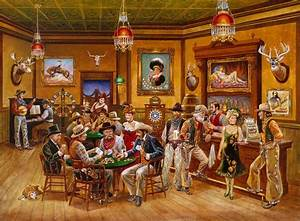 Western Saloon Mural - Lee Dubin Murals Your Way