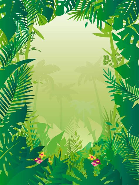 jungle frame clipart   cliparts  images