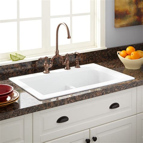 33 Quot Fayette Double Bowl Drop In Granite Composite Sink