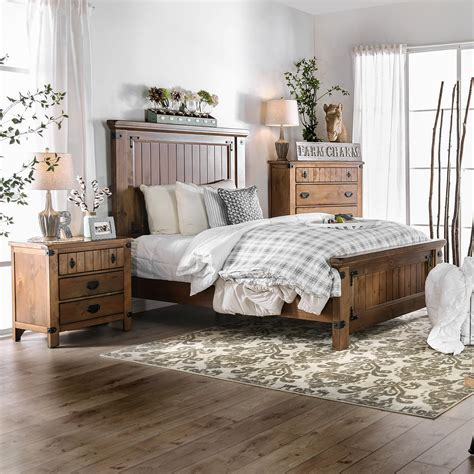 Country Bedroom Set by Shop Furniture Of America Sierren Country Style 3