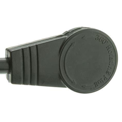 ft black  outlet surge protector strip flat rotating plug