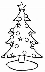 Tree Christmas Coloring Drawing Pages Simple Printable Present Wall Whoville Trees Template Easy Paper Clip Xmas Colouring Looking sketch template