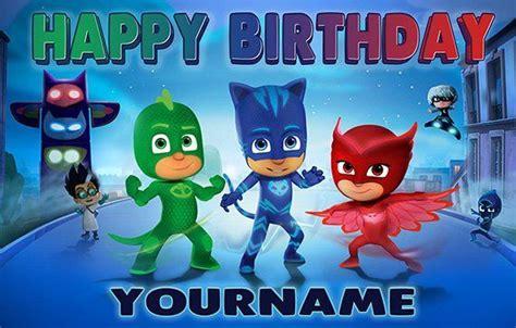 pj masks happy birthday digitally printed vinyl banner