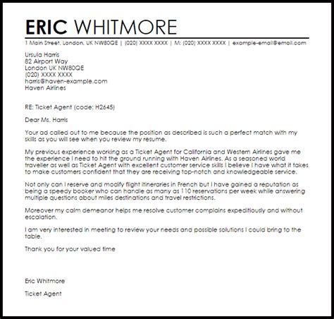 Customer Service Escalation Manager Resume by Ticket Cover Letter Sle Livecareer