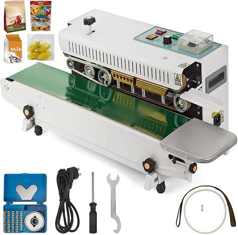 vevor fr  continuous band sealer automatic horizontal band sealer  temperature control