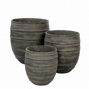 Cache Pot Noir : cache pot resine noir 30 ht 31cm florimat ~ Teatrodelosmanantiales.com Idées de Décoration