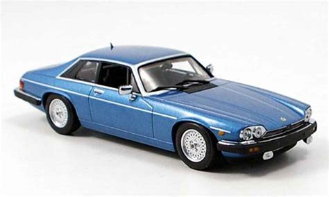 jaguar xjs  coupe blue minichamps diecast model car