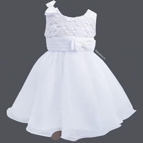 robe de bapteme fille robe de bapt 234 me courte blanche en dentelle satin et tulle louise 224 34 99