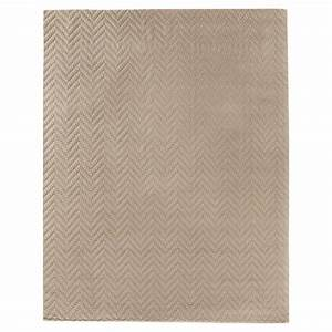 Exquisite rugs demani modern classic textured chevron for Modern beige carpet texture