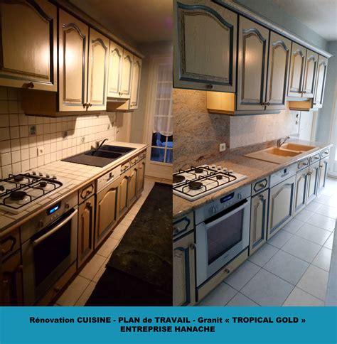 revetement cuisine plan de travail rénovation cuisine plan de travail granit et revêtement