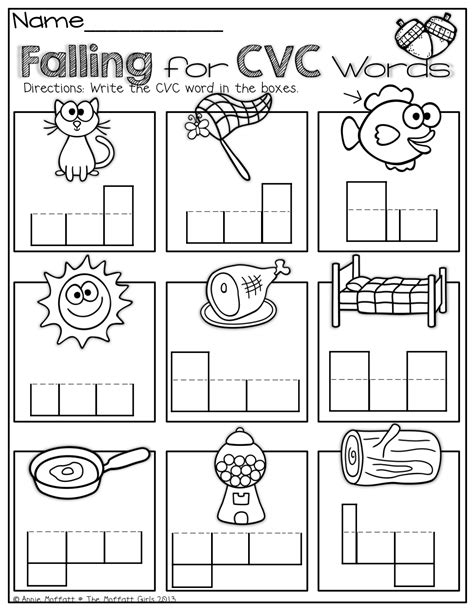 cvc word work kindergarten worksheets cvc worksheets