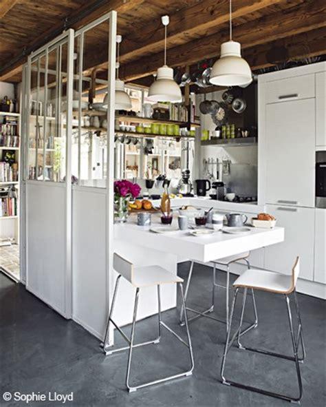 paravent cuisine paravent verriere separation cuisine style atelier