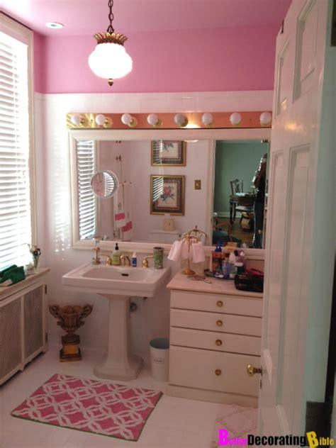 diy friday easy pink bathroom reno
