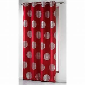 Rideau Voilage Rouge : rideaux rouge gris ~ Teatrodelosmanantiales.com Idées de Décoration