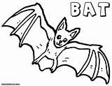 Bat Coloring Animal Colorings sketch template