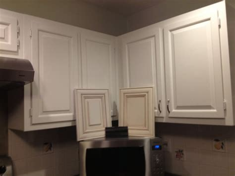 cream cabinets   white trim