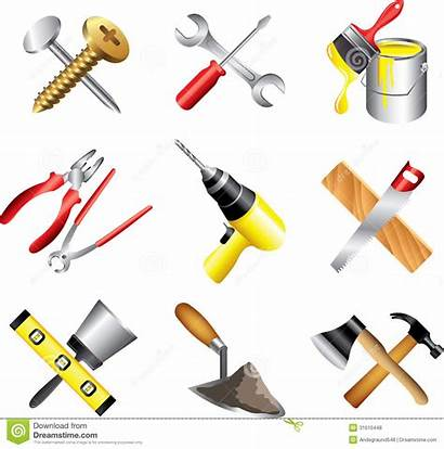 Tools Construction Clip Clipart Icons Vector Tool