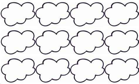 Cloud Template With Lines by 6 Best Images Of Cloud Template Printable Cloud Cut Out