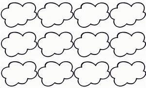 6 best images of cloud template printable cloud cut out With cloud template with lines
