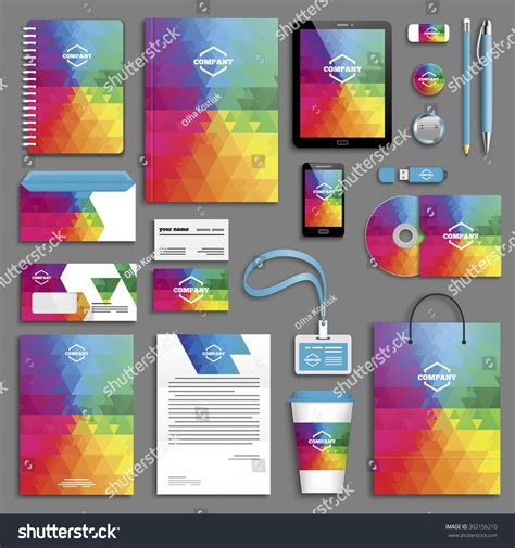 Brochure Vector Mock Up Template Millions Vectors Corporate Identity Template Set Business Stationery Mock