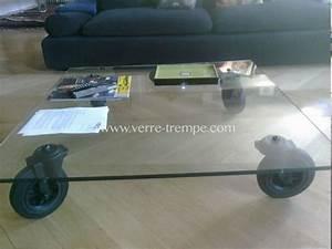 Table Basse Sur Roulette : table basse en verre trempe sur roulette verre tremp ~ Melissatoandfro.com Idées de Décoration