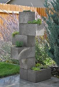 Decoração e Projetos Como fazer um vaso de plantas de blocos de concreto
