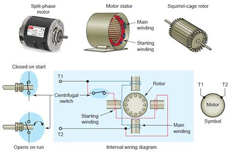 Motor Wiring Diagram 50hz by Ac Split Phase Induction Motor Electrical Engineering