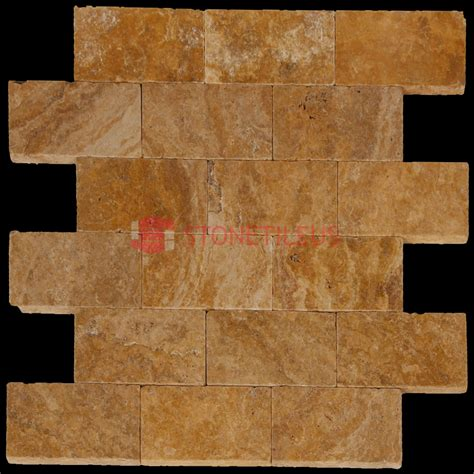 Florida Tile Natura 8x8 by Gold Tumbled Travertine Pavers 8x8 Tile Us