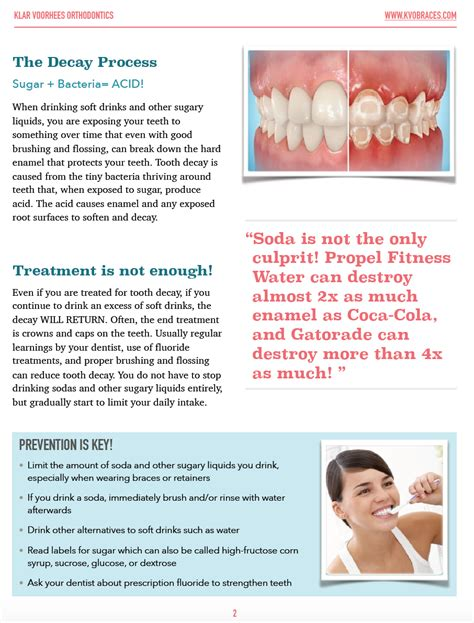 avoiding soft drink tooth decay