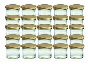 Einmachgläser Mit Schraubverschluss : 25 sturzgl ser 125 ml marmeladengl ser einmachgl ser einweckgl ser gold deckel ebay ~ Whattoseeinmadrid.com Haus und Dekorationen