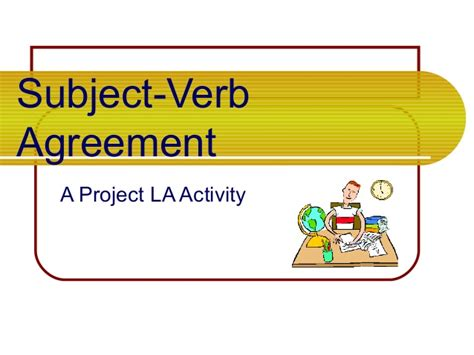 subject verb agreement subject   game