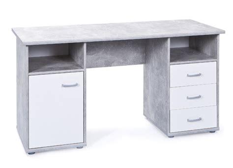 basika bureau bureau florus blanc béton