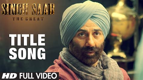 singh saab  great title song full video sunny deol