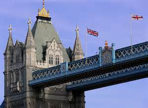 Flag On the London Tower Bridge